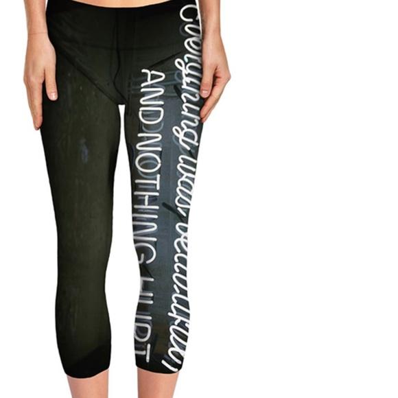NEW Exclusive Kurt Vonnegut Quote Yoga Pants Boutique